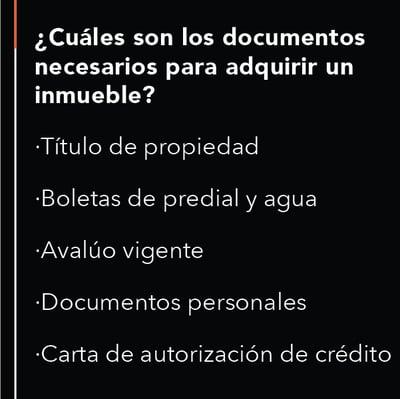 documentos para adquirir un inmueble